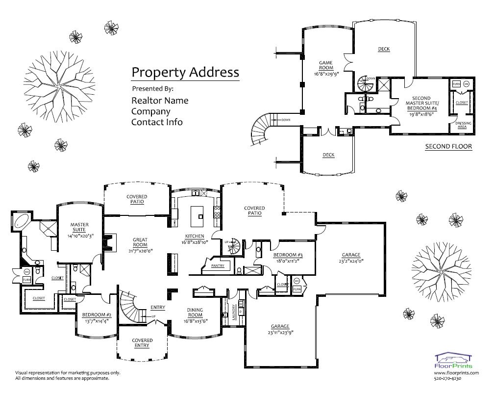 Floorprints professional floor plans for real estate for Floor plans for real estate marketing